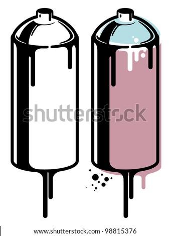 Spray Cans - stock vector