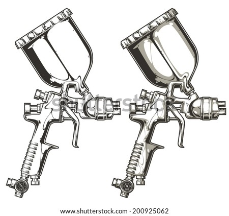 spray gun - stock vector