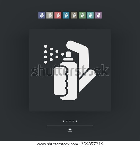 Spray icon - stock vector