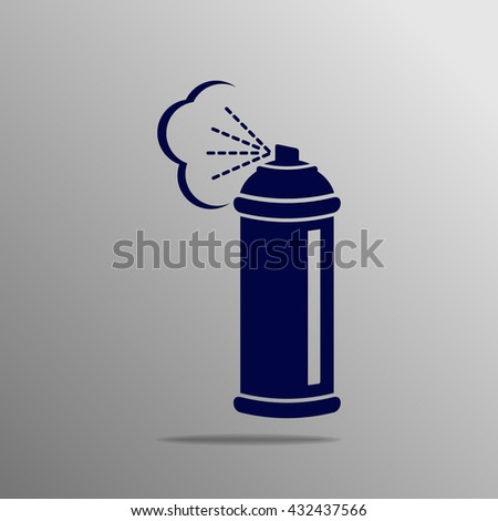 Spray icon blue on a gray background - stock vector