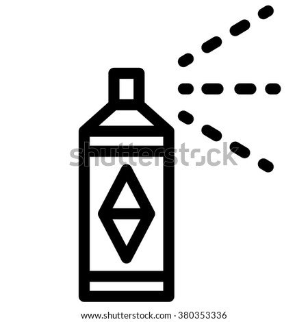 spray paint icon - stock vector
