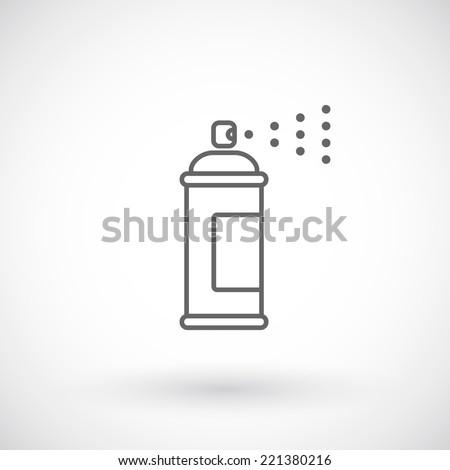 Spray paint outline icon - stock vector