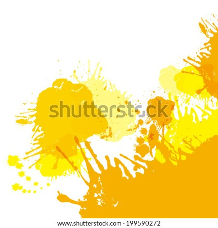 Spray paint watercolor background. Vector.