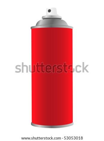 Spray tin on white background - stock vector