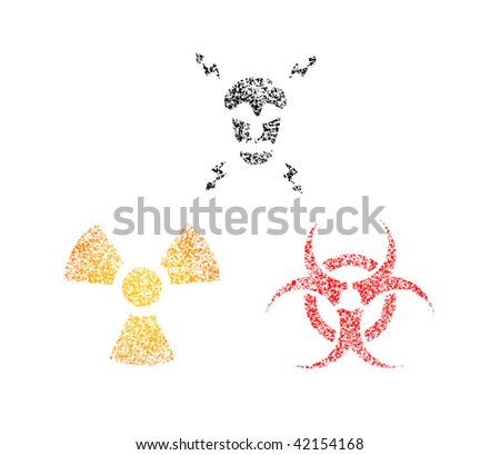 Spray warning symbols - stock vector