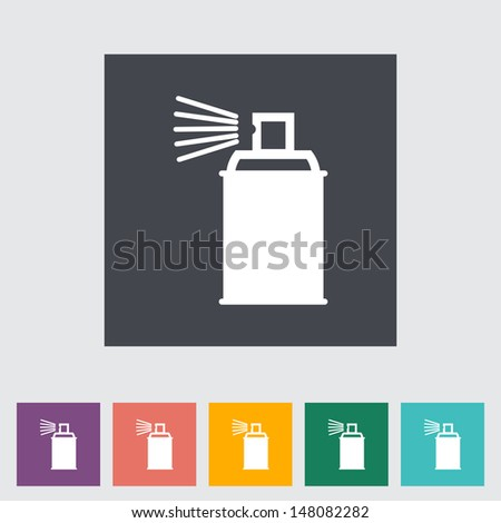 Spray with chemicals. Vector illustration. - stock vector