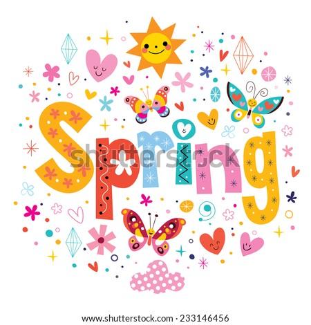 Spring - stock vector