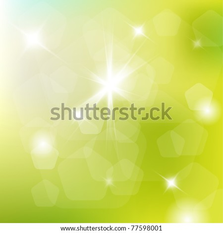 Spring abstract background with place for your text - stock vector