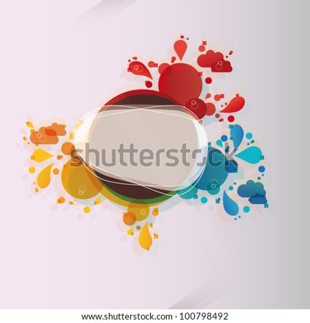 Spring Abstract floral background - stock vector