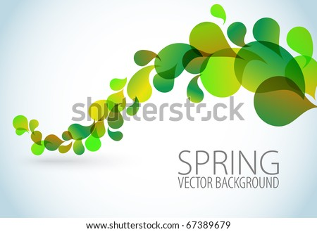 Spring Abstract floral background with place for your text - stock vector