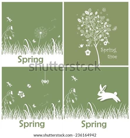 Spring applique - stock vector
