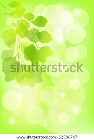 Spring  background. Green. EPS 10. Vector illustration. - stock vector