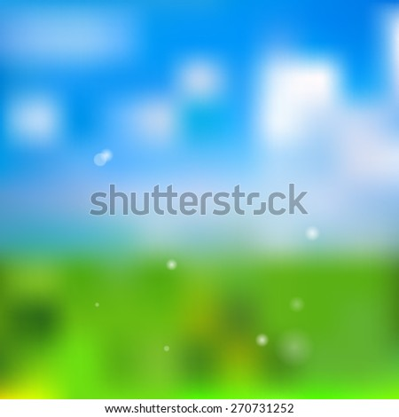 Spring background vector illustration - stock vector