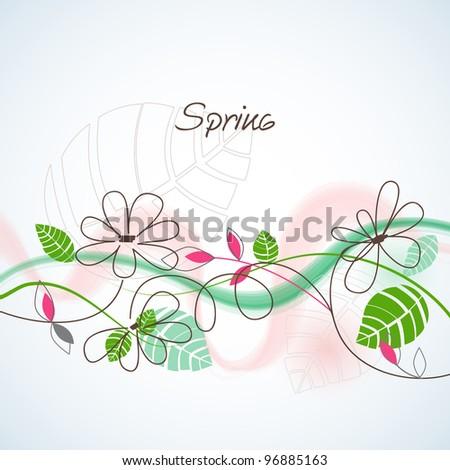 Spring background vector illustration - stock vector