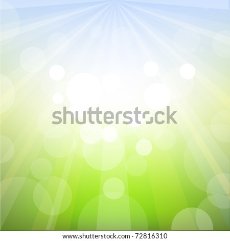 Spring Background With Bokeh, Vector Illustration - stock vector