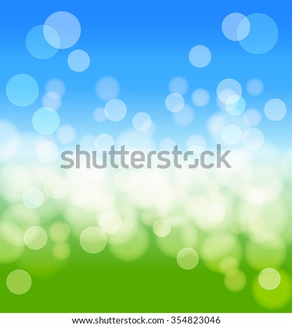 spring background with lights effects. vector - stock vector