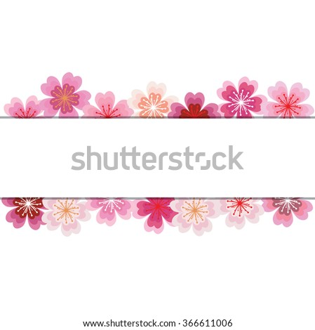 Spring background with sakura flowers - stock vector