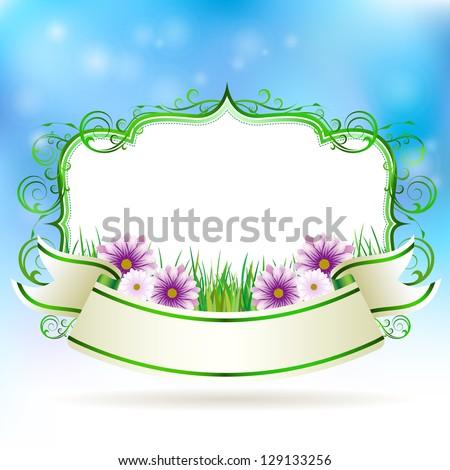 Spring banner vector illustration - stock vector