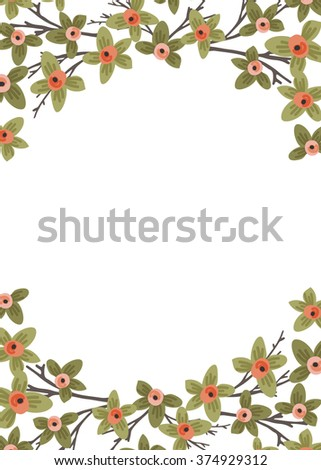 Spring Buds Background 5 x 7 - stock vector