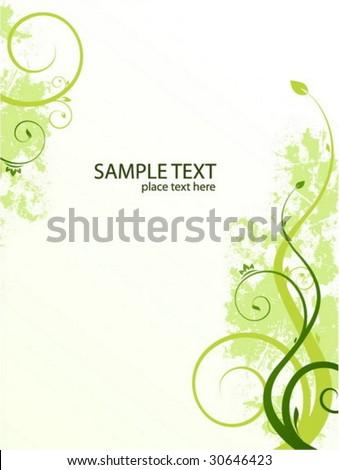 Spring card - stock vector