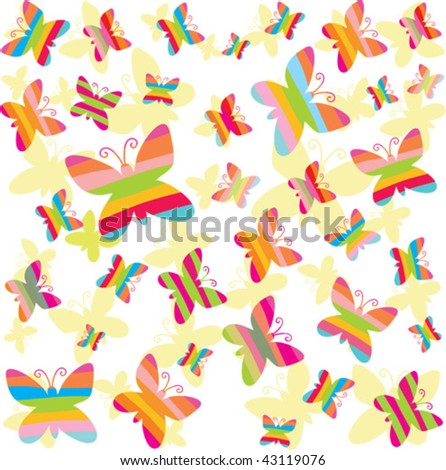 spring colorful background with butterfly