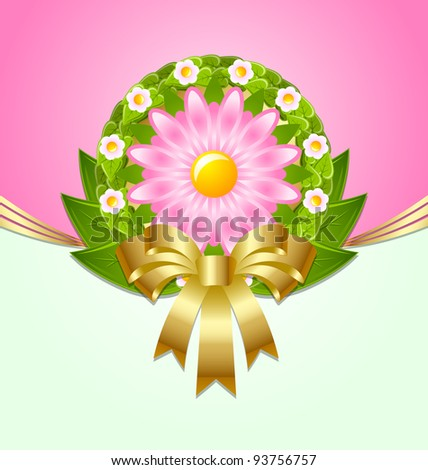 Spring decoration - stock vector