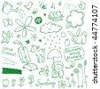 Spring Doodles - stock vector