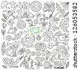 Spring doodles collection - stock vector