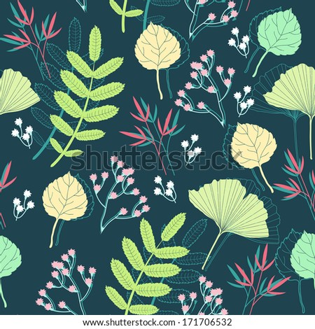 Spring Floral Background - stock vector