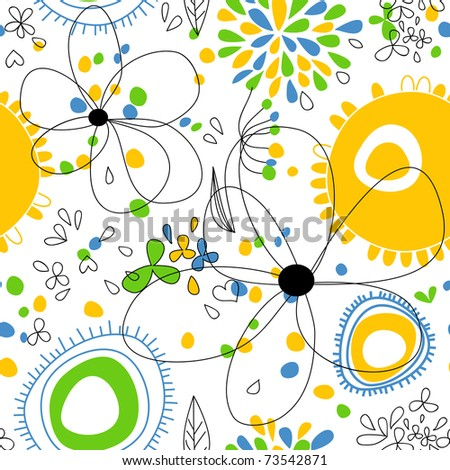 Spring floral seamless pattern - stock vector