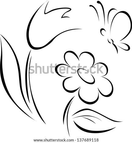 Spring flower outline stock vector 2018 137689118 shutterstock spring flower outline mightylinksfo Gallery