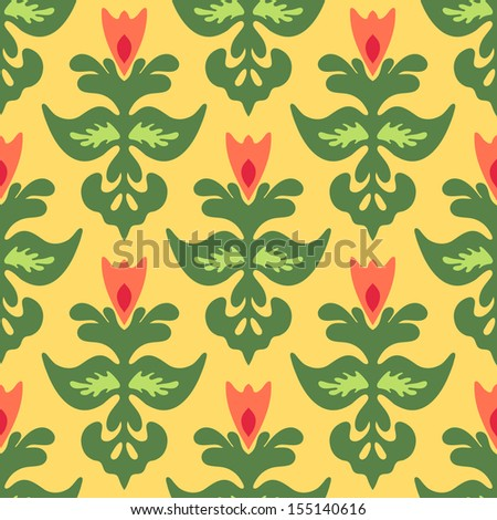 Spring Flower Seamless  Pattern Vector. Easter bsckground. - stock vector