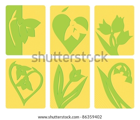 Spring flowers - stock vector
