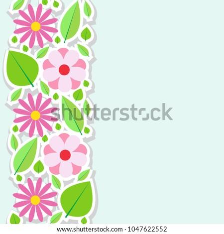 Spring flowers border vector illustration stock vector hd royalty spring flowers border vector illustration mightylinksfo