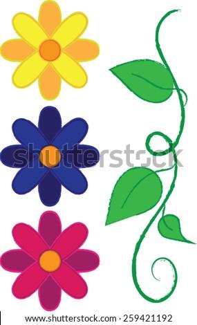 Spring Flowers - Vector Art - stock vector
