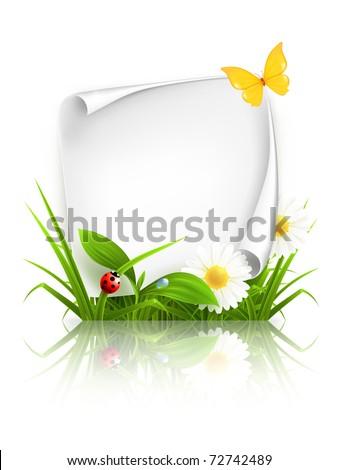 Spring frame, 10eps - stock vector