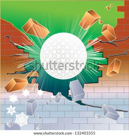 stock-vector-spring-golf-ball-breaking-t