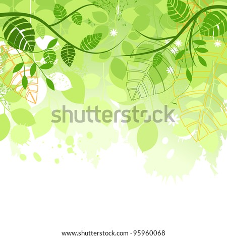 Spring green background vector illustration - stock vector