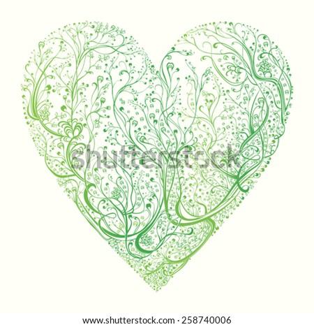 Spring Heart.  - stock vector