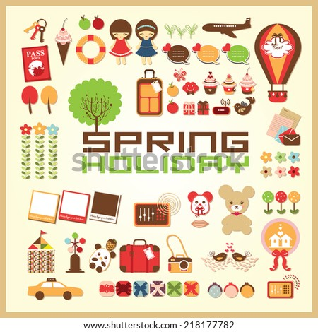 spring holiday icon - stock vector