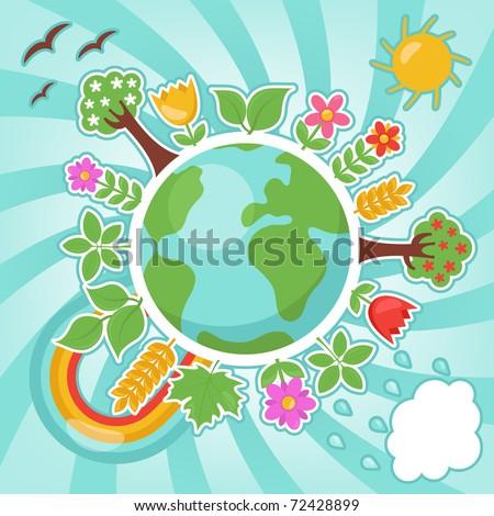 Spring illustration - stock vector