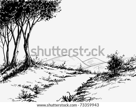 Spring landscape - stock vector