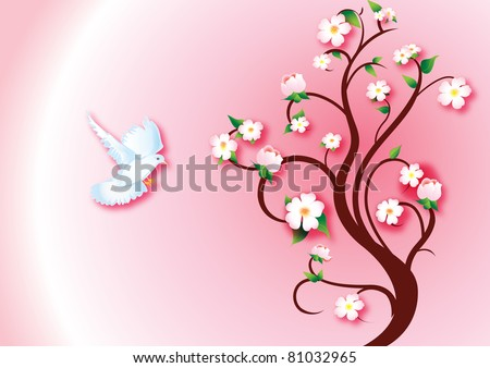 Spring messenger - stock vector