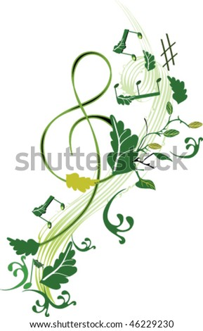 Spring music - stock vector
