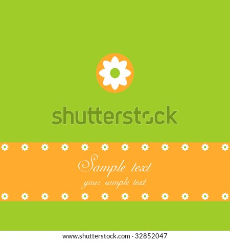 Spring or Easter greeting card, summer background - stock vector