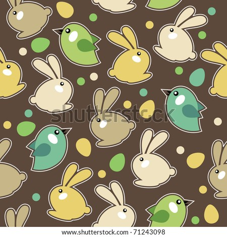 Spring Pattern Seamless - stock vector