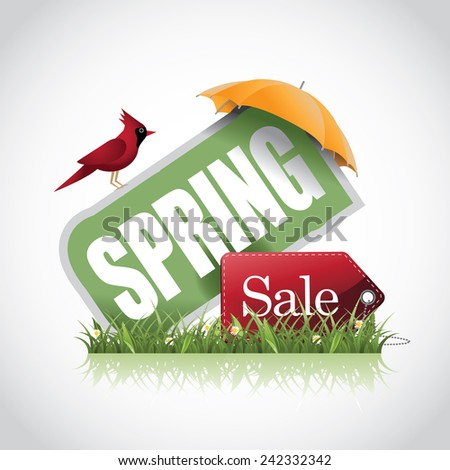Spring sale icon EPS 10 vector stock illustration - stock vector