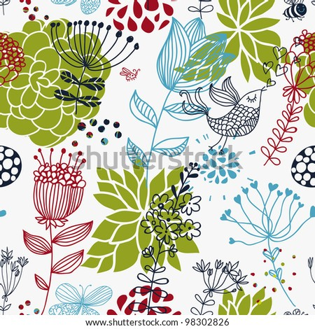 Spring seamless patter for sunny wallpapers - stock vector