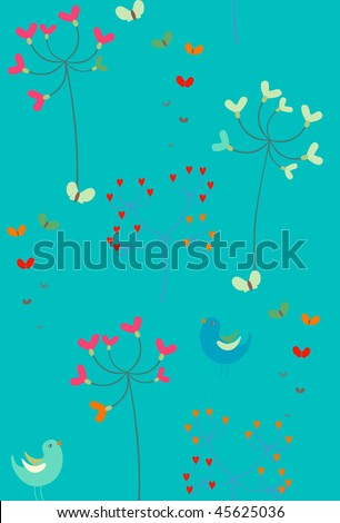 Spring seamless pattern.Vector illustration