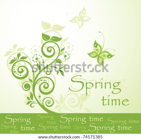 Spring time - stock vector